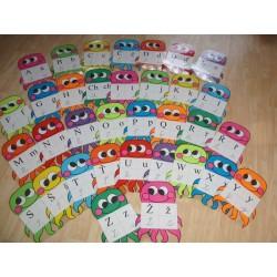 Chobotničky - 4 podoby písmen