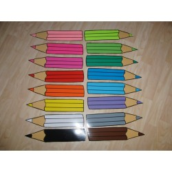 Barevná pastelka - kusový produkt