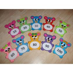 Medvídci - desítková čísla