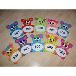Medvídci - stovková čísla